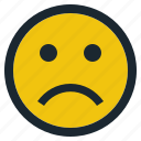emoji, emoticon, emotion, expression, face, feeling, sad icon