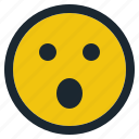 anguished, emoji, emoticon, emotion, expression, face, feeling icon