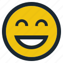 emoji, emoticon, emotion, expression, face, feeling, laughing icon
