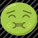 emoji, emoticon, feeling, fever, sick, unwell icon