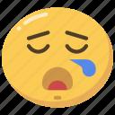 emoji, emoticon, sleep, snore, snoring, tired icon