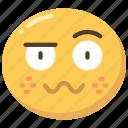emoji, emoticon, expression, queasy, sick, woozy icon