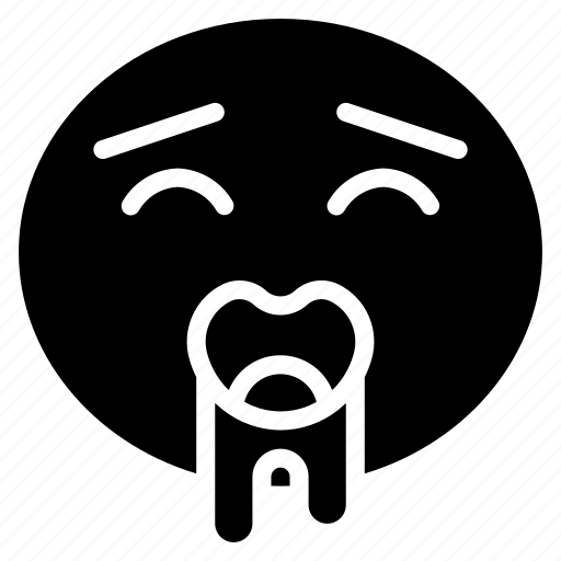 dribbble, dribbling, drool, drooling, emoji, emoticon icon