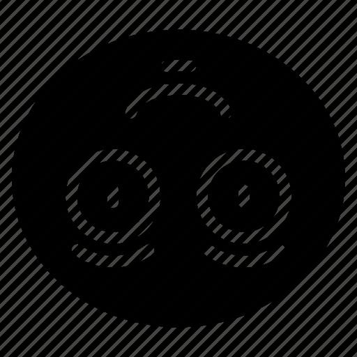 down, emoji, emoticon, smile, smiling, upside icon