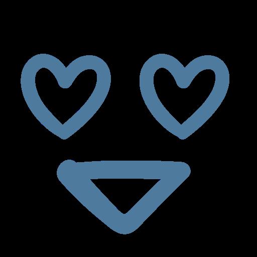 emoji, emoticon, eyes, happy, heart, in love, smile icon