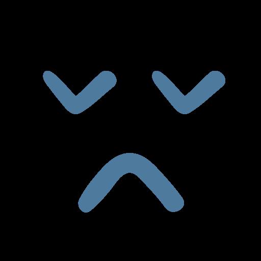 emoji, emoticon, sad, surprised icon