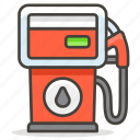 fuel, gas, station icon