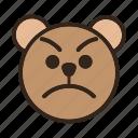 angry, bear, color, emoji, gomti, upset