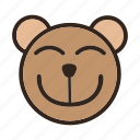 bear, bigsmile, color, emoji, eye smile, gomti icon