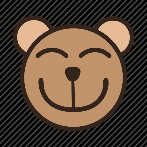 Bear, bigsmile, color, emoji, eye smile, gomti icon - Download on Iconfinder