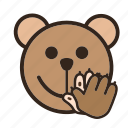 applaud, bear, clap, color, complement, emoji, gomti icon