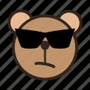 bear, cool, emoji, gomti, sunglass, sunglasses icon