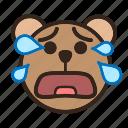 bear, color, crying, emoji, gomti, tear