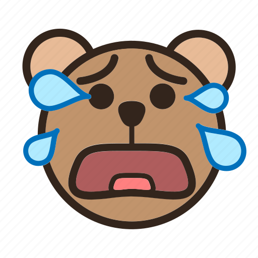 Bear, color, crying, emoji, gomti, tear icon - Download on Iconfinder
