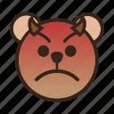 angry, bear, devil, emoji, evil, gomti, upset