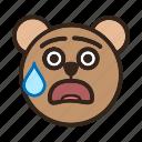 bear, color, embarassed, emoji, gomti