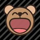 bear, emoji, gomti, happy, laugh, laughing, smile