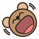 bear, color, emoji, gomti, laughing, lol, rolling on the floor laughing icon