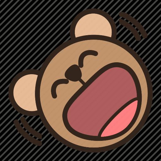 Bear, color, emoji, gomti, laughing