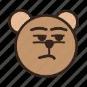 bear, color, emoji, gomti, indifference, noconcern, suspicious