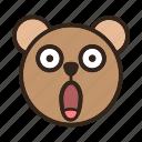 bear, emoji, gomti, overwhelm, shocked, suprised, wow