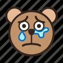 bear, cry, emoji, gomti, sad, sadandcry, tear