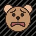 bear, color, emoji, gomti, sad