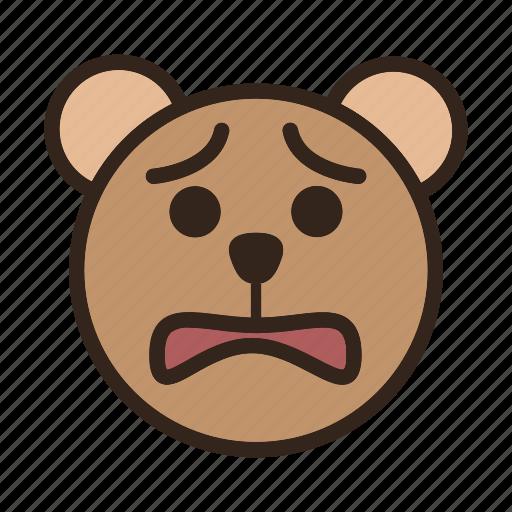 Bear, color, emoji, gomti, sad icon - Download on Iconfinder