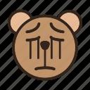 bear, color, emoji, gomti, sad, sorry icon