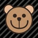 bear, color, emoji, gomti, smile, smiley icon
