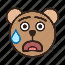 bear, embarrassed, emoji, gomti, shocked, suprised, sweating