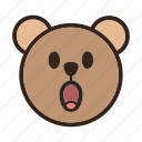 bear, emoji, gomti, surprised