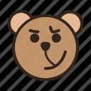 bear, color, cynical, emoji, gomti