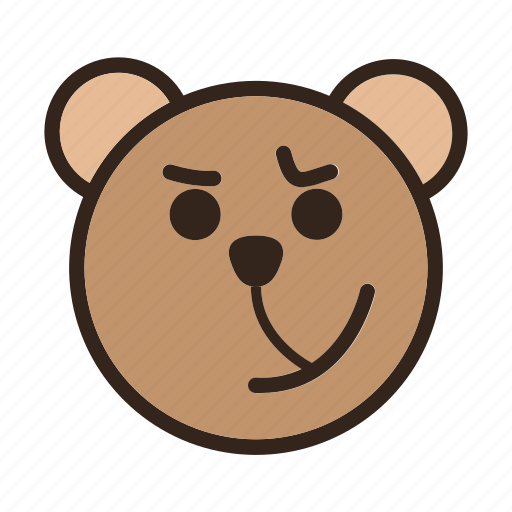 Bear, color, cynical, emoji, gomti icon - Download on Iconfinder