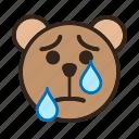 bear, color, crying, emoji, gomti, sad, tear