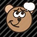 bear, color, emoji, gomti, thinking, thinkingsomdthing