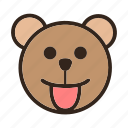 bear, color, emoji, gomti, smiley, tongueout icon