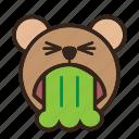 bear, color, disgusting, emoji, gomti, vomit
