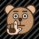 bear, color, emoji, gomti, stop, wait icon