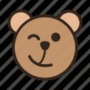 bear, color, emoji, gomti, signal, wink