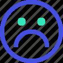 avatar, emoji, emotion, emotional, face, sad icon