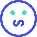 avatar, emoji, emotion, face, nervous icon