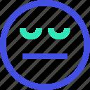 avatar, emoji, emotion, face, sceptic icon