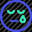 and, avatar, cry, emoji, emotion, face, sad icon