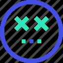 avatar, emoji, emotion, emotional, face, sceptic icon