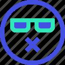 avatar, emoji, emotion, emotional, face, muted icon