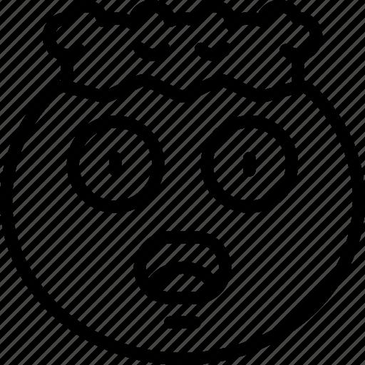 blown, emoji, emoticon, explosion, mind, shock icon