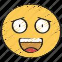 cheerful, emoji, emoticon, grin, happy, joy, smile icon