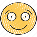 big, emoji, emoticon, happy, smile, smiling icon