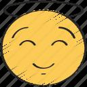 happy, emoticon, happiness, smile, emoji, angel, smiling icon